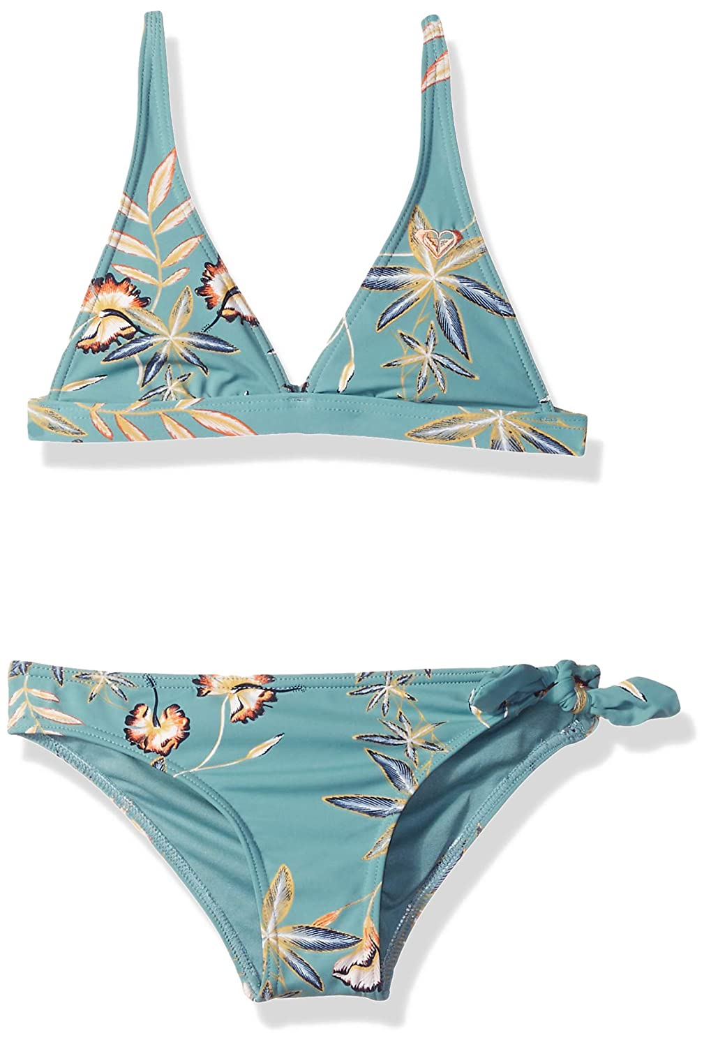 Roxy Girls' Big Born in Waves Tri Top Swimsuit Set ERGX203170