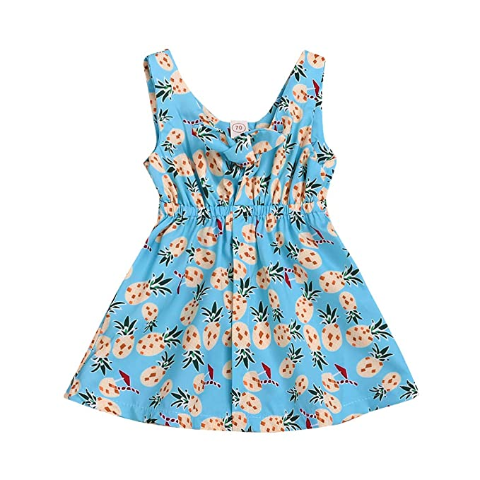 Amazon.com: Vestido juvenil con estampado de piña para ...