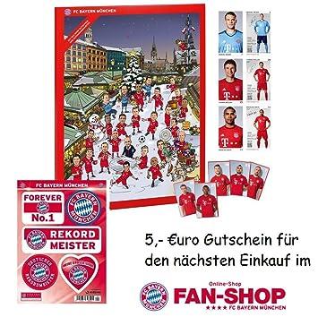 Fc Bayern Weihnachtskalender.Fc Bayern München Adventskalender Autogrammkarten Aufkleber Set