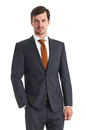 a33b2b536 Ted Baker Tailored Fit 2 Piece Textured Suit Charcoal - 48L  Amazon ...