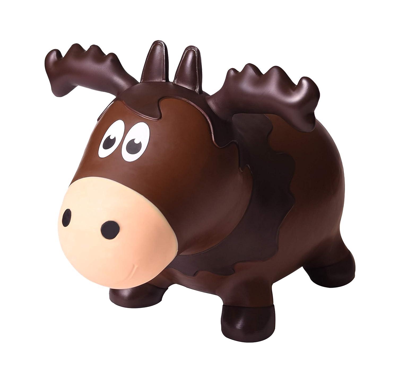 Farm Hoppers Wildlife Hopper Inflatable Bouncing Moose Plus Pump