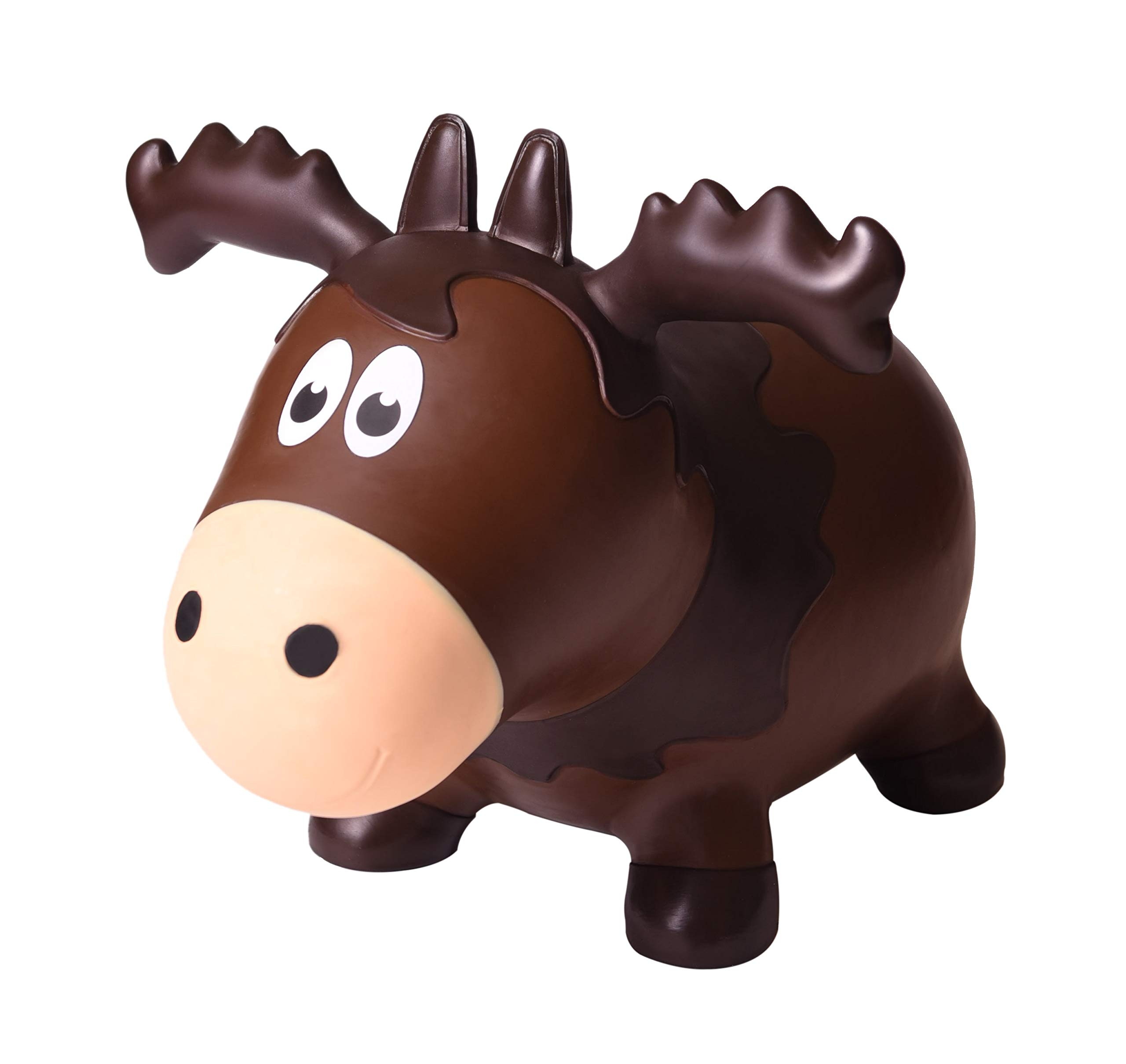 Farm Hoppers Wildlife Hopper Inflatable Toddler Safe Bouncing Moose Plus Pump by Farm Hoppers