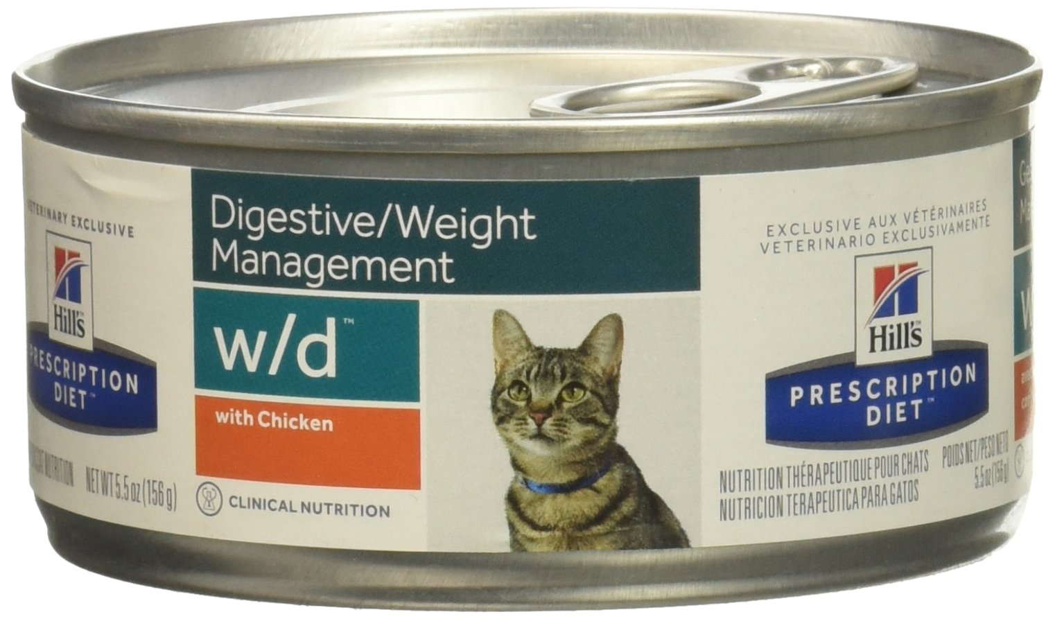 Hills Diet w/d Feline Low Fat-Glucose Management Gastrointestinal With Chicken (24 -5.5oz cans) by Hill's Pet Nutrition