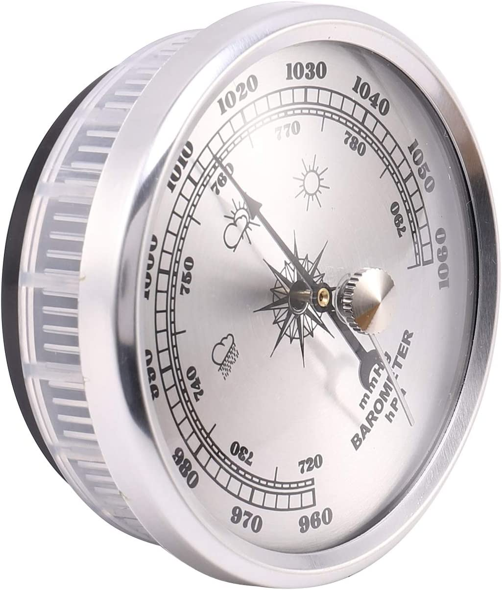 SODIAL f/ür Haus Manometer Wetter Station Metall Wand Behang Barometer Atmosph?Risches Multifunktions Thermometer Hygrometer Tragbar