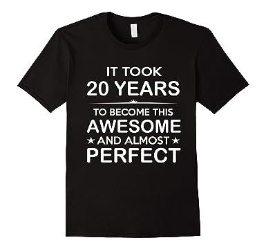 Mens Twenty 20 Year Old 20th Birthday Gift Ideas For Her Him 2XL Black