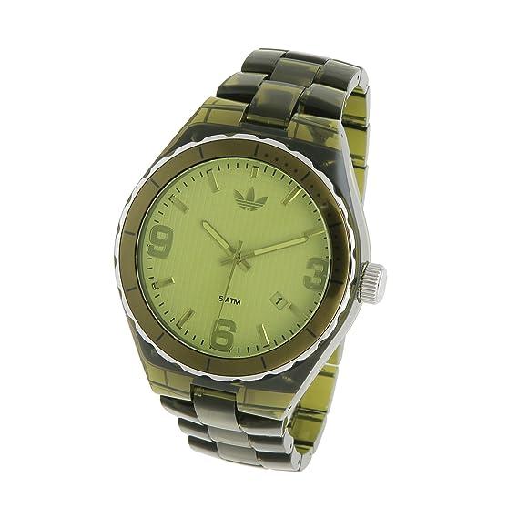 Adidas ADH2558 - Reloj para mujeres, correa de plástico color verde: Amazon.es: Relojes