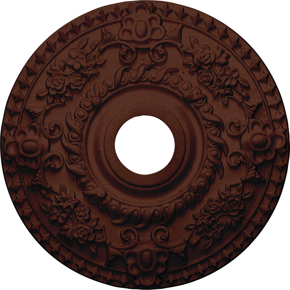 Ekena Millwork CM18ROACS Rose Ceiling Medallion, 18'' OD x 3 1/2'' ID x 1 1/2'' P, Antique Copper