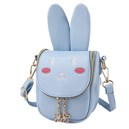 3264838a6d80 Image Unavailable. Image not available for. Color  Youndcc Cute Bunny Girls  Bag Shoulder Bag Cross-Body Messenger Bag Party Evening Bag Child