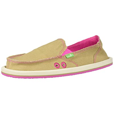 Sanuk Women's Donna Hemp Neon Loafer Flat | Shoes