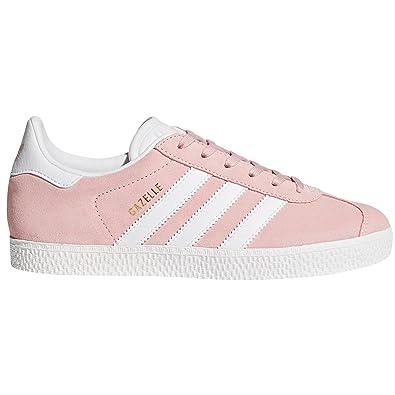Adidas Gazelle J Chaussures Femme Rose et Bleue. Sneaker (38 EU, Icey Pink/White/Gold Metallic)