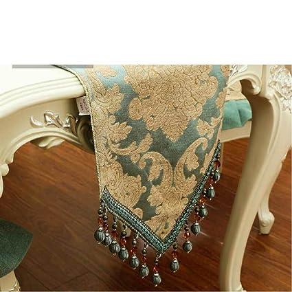5a6f494c862b European-style lusso tessuto table runner letto finestra tavolo Accessori  per la tavola di cena-A 35x180cm(14x71inch): Amazon.it: Casa e cucina