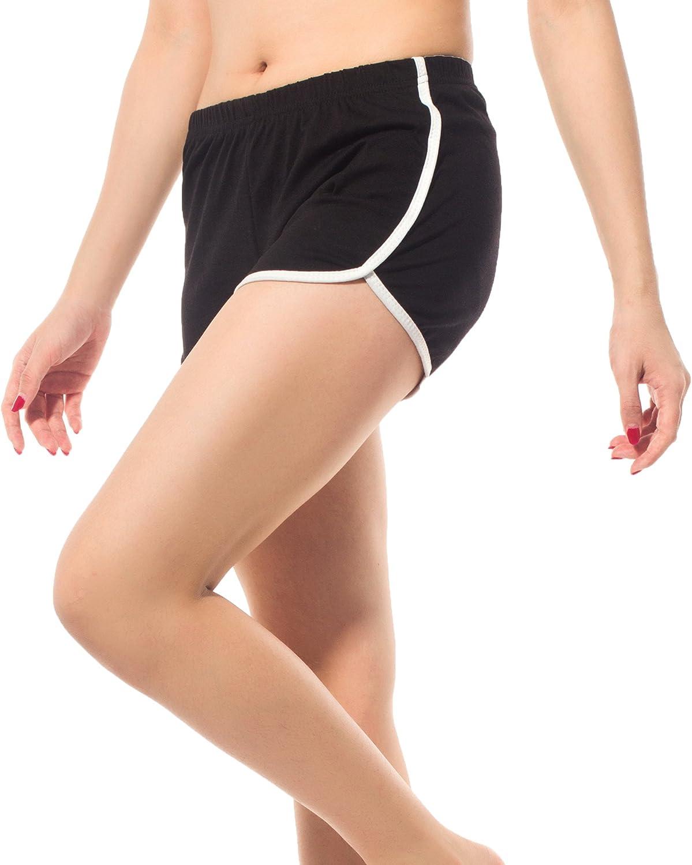 Sport Shorts Gym Yoga Shorts Atmungsaktiv Laufshorts Fitness Trainingsshorts Hot Pants DODOING Sport Short Damen Fitness Shorts Retro Shorts