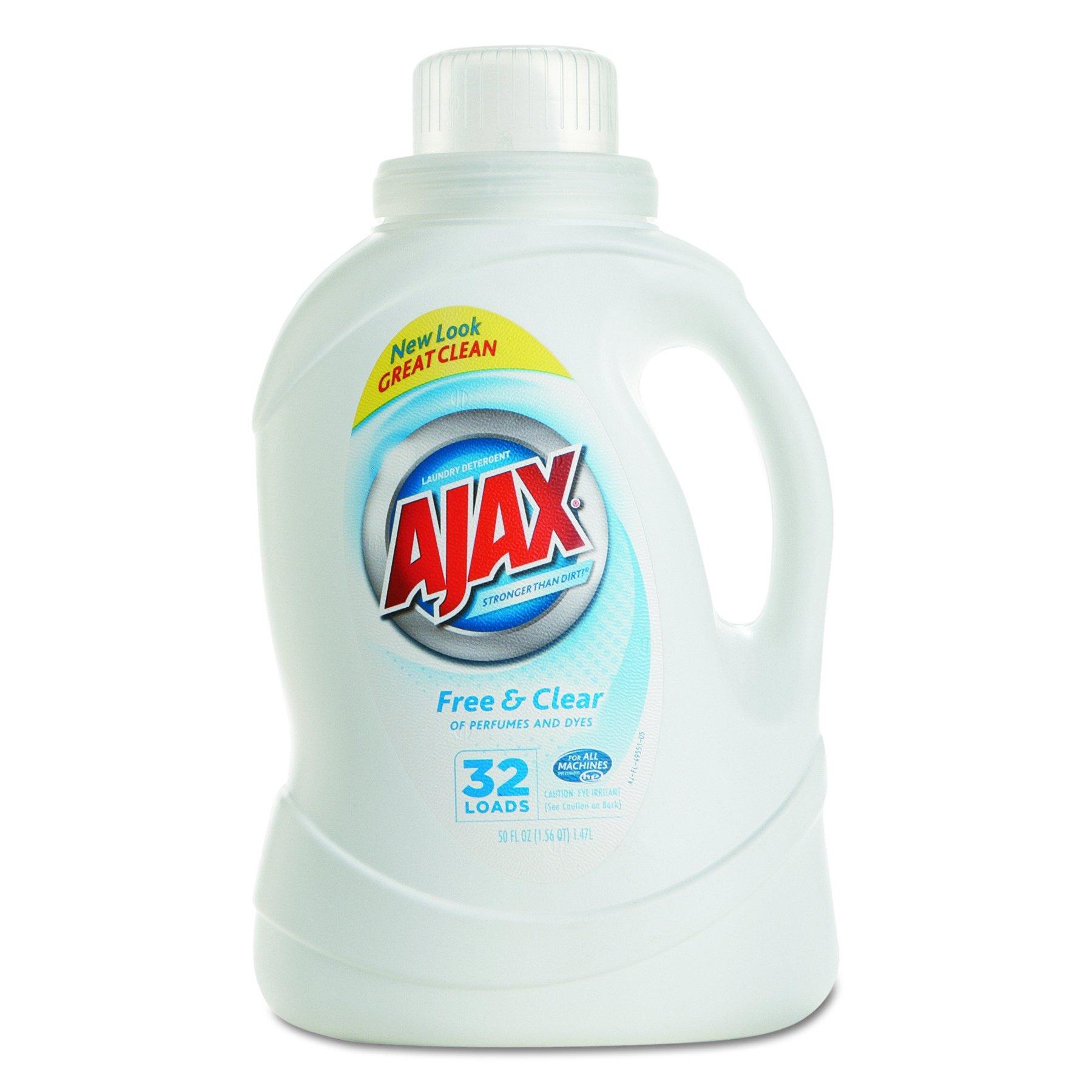 Ajax 49551 2Xultra Liquid Detergent, Free & Clear, 50oz Bottle (Case of 6)