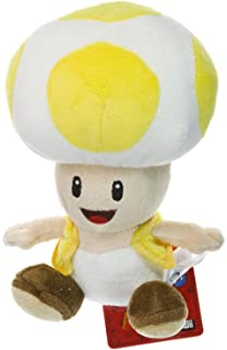 Yellow Toad ~6.75 Plush - New Super Mario Bros Wii Plush Series