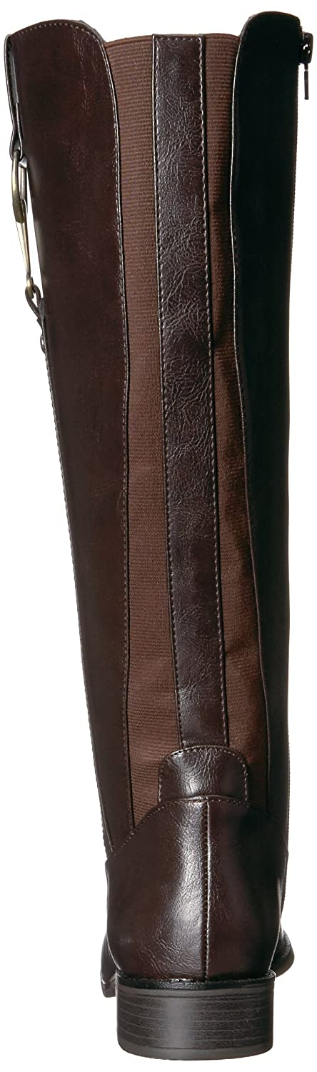 LifeStride Women's Sikora Riding Boot B073253ZCT 9.5 B(M) US|Dark Brown
