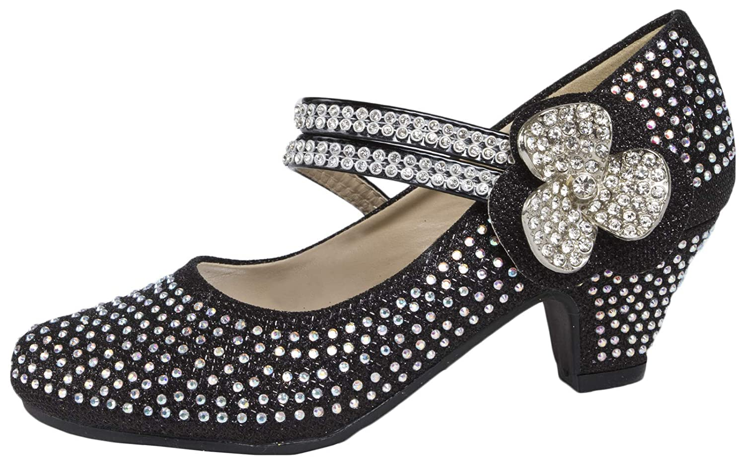 d2a6e94ab5 Lora Dora Girls Mary Jane Low Heel Glitter Party Shoes: Amazon.co.uk: Shoes  & Bags