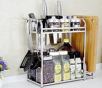 XWG Küchespeicherregal Edelstahl Regal Küche Würzen Flaschen ...