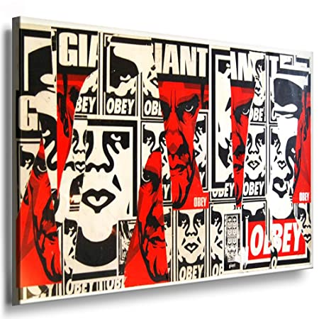 Obey Canvas Wall Picture Graffiti Artist Shepard Fairey 100 x 70 cm ...