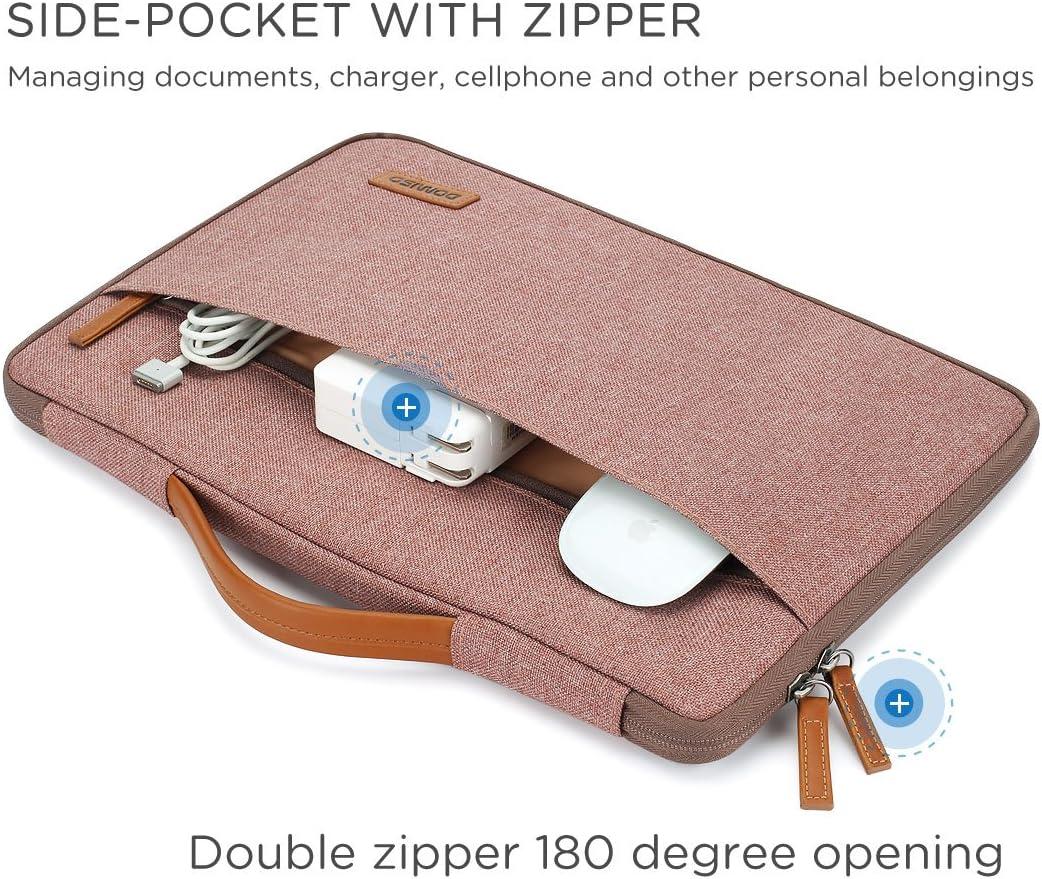 DOMISO 13.3 Zoll Wasserdicht Laptop Tasche Sleeve Case Notebook H/ülle Schutzh/ülle f/ür 13 MacBook Air//13.3 ThinkPad L390 Yoga X380 Yoga//13.9 Lenovo Yoga C930 GLASS//14 HP EliteBook 840 G5,Rosa