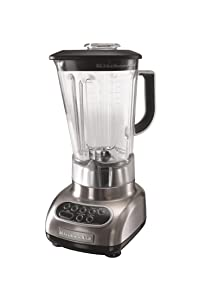 KitchenAid KSB580NK Custom Metallic 5-Speed Blender, Brushed Nickel