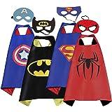 Mizzuco Cartoon Dress up Costumes Satin Capes With Felt Masks For Boys (4PCS)