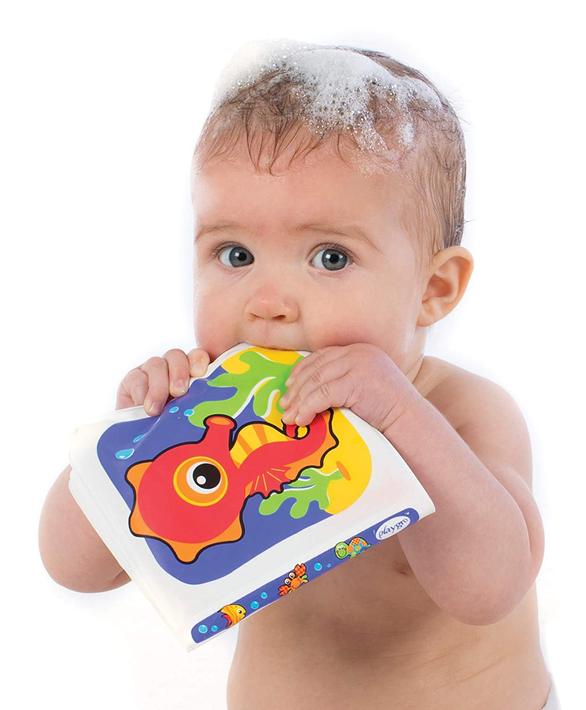 Playgro Badepuzzle BPA-frei Floaty Boat Bath Puzzle Ab 6 Monaten Mit bunten Tiermotiven Bunt 40172 Gr/ö/ße: 25 x 25 cm 9-teilig