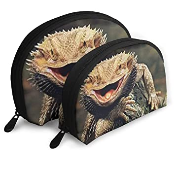 6254cea2676e Amazon.com : Bearded Dragon Lizards Art Print Cosmetic Bag & Case ...