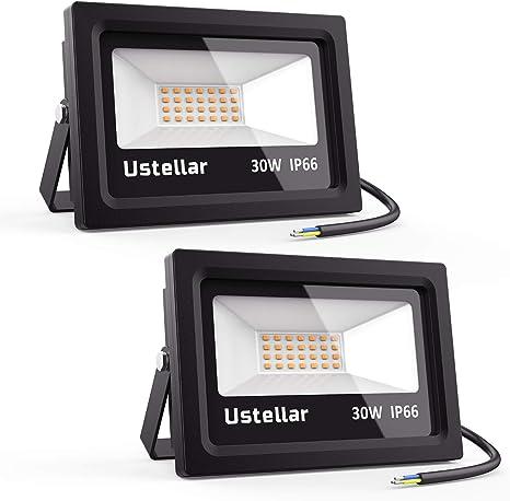 3000Lm IP66 al aire libre Onforu 2 Pack 35W LED de luces de inundación PIR con Sensor de movimiento