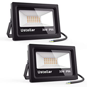 Ustellar 2x 30W Foco LED Exterior, Proyector LED 2100LM ...