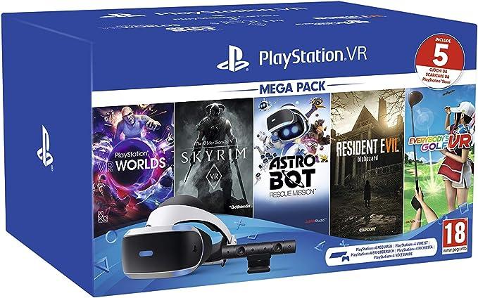 PS VR – Mega Pack V2 -PS VR headset + PS Camera +5 Giochi- Bundle ...