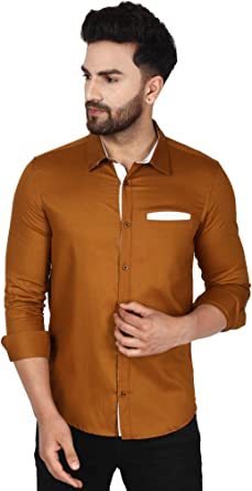 SKAVIJ Camisas de Algodon Hombre Manga Larga Camisas de Verano