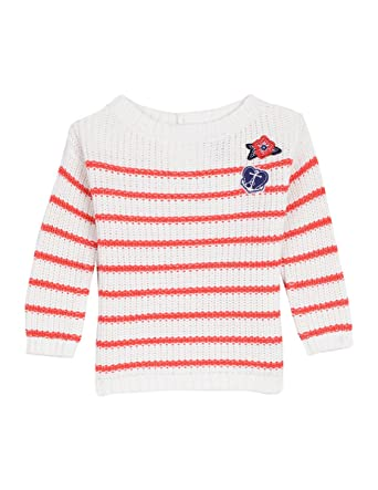 aeadb851c Amazon.com  Nautica Baby Girls  Ribbed Sweater with Metallic Stripe ...