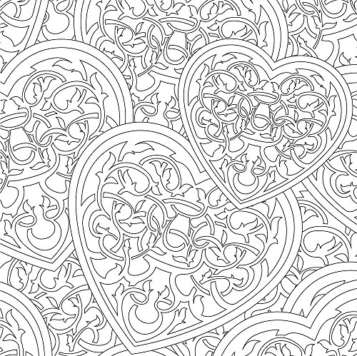 Vive Le Color Hearts Adult Coloring Book Color In