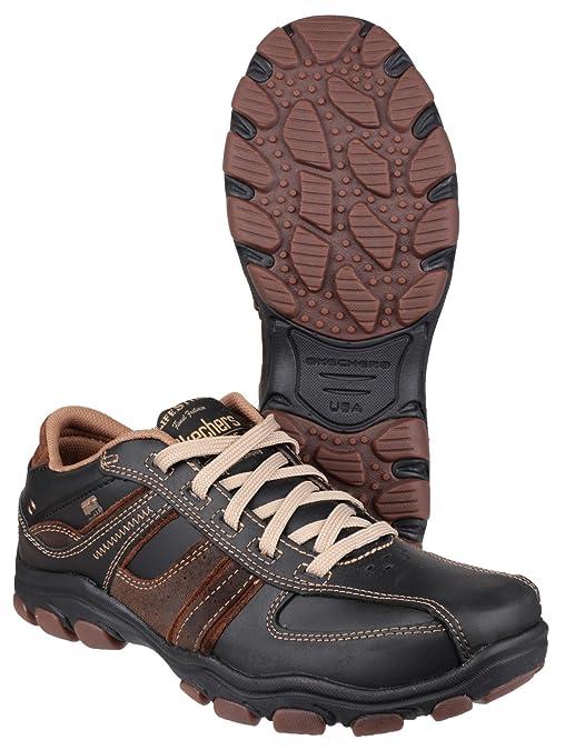 Skechers Mens Sk64065 Hodan Nissen Lace Shoe Dark Brown 12