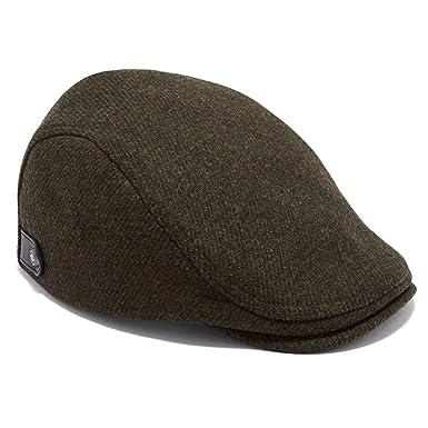 df03afcf5afd03 Ted Baker English Khaki Green Herringbone Flat Cap M-L: Amazon.co.uk ...