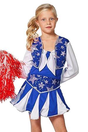 The Fantasy Tailors - Disfraz de Animadora para niña, Color Rojo y ...