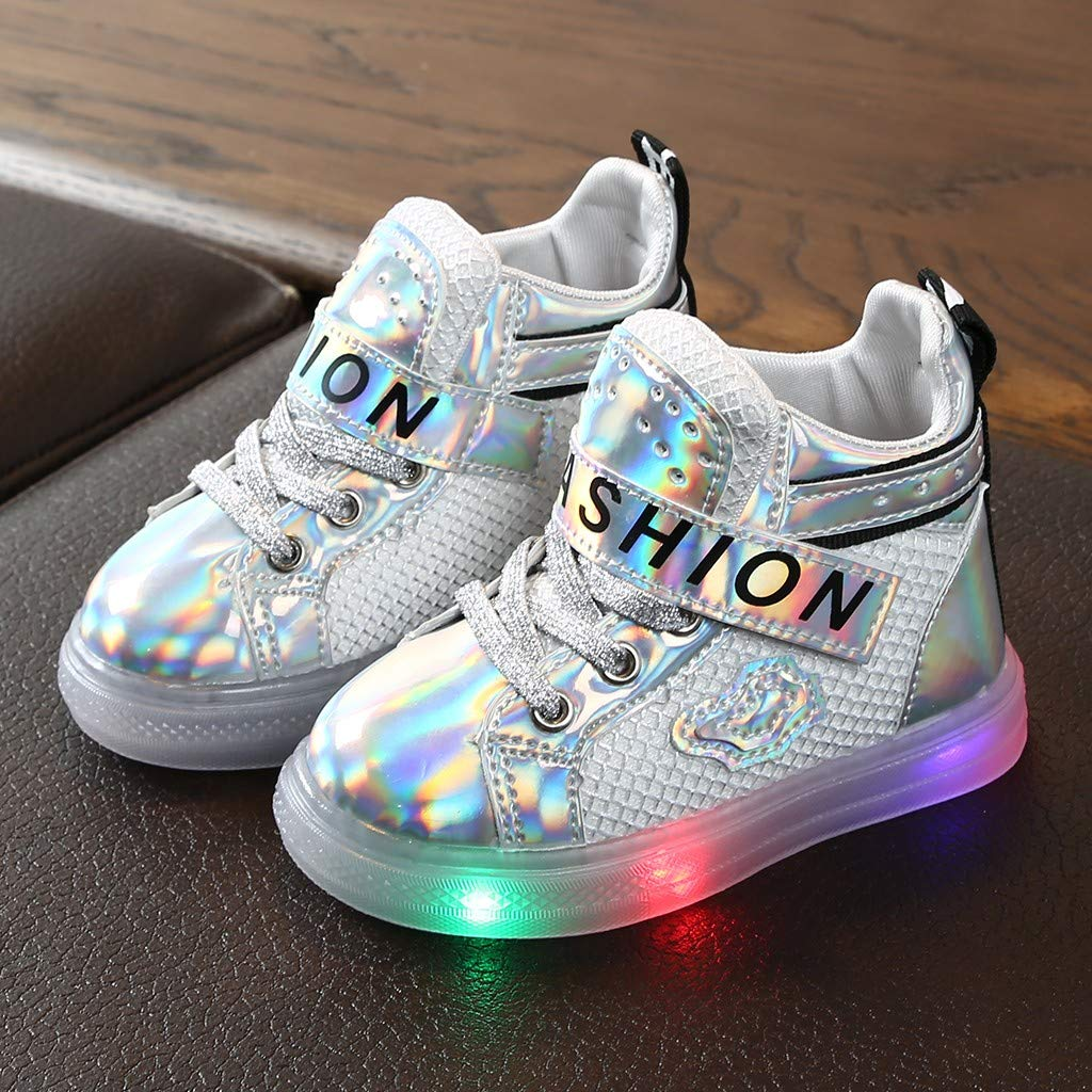 Yncc_BÉBÉ Kinder LED leuchten Candy Schuhe leichte Farbe