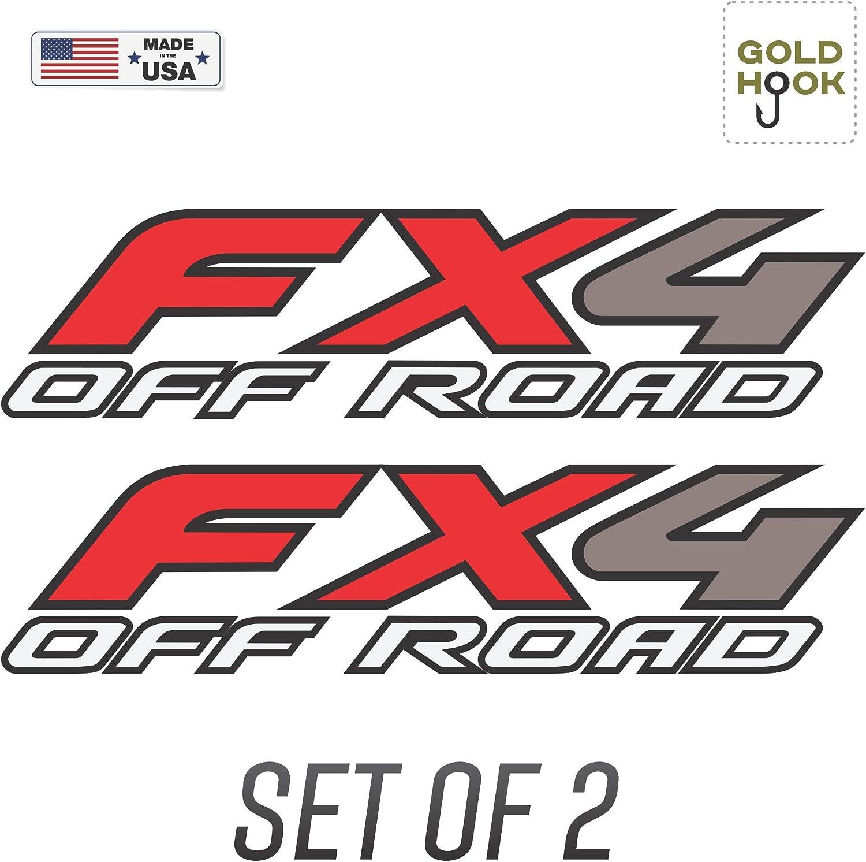 fx4 off road decal Matt black and gold sport  truck SET