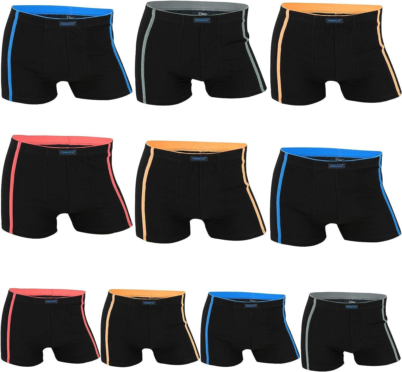 10er Pack REMIXX Herren Baumwolle Boxershorts Retroshorts