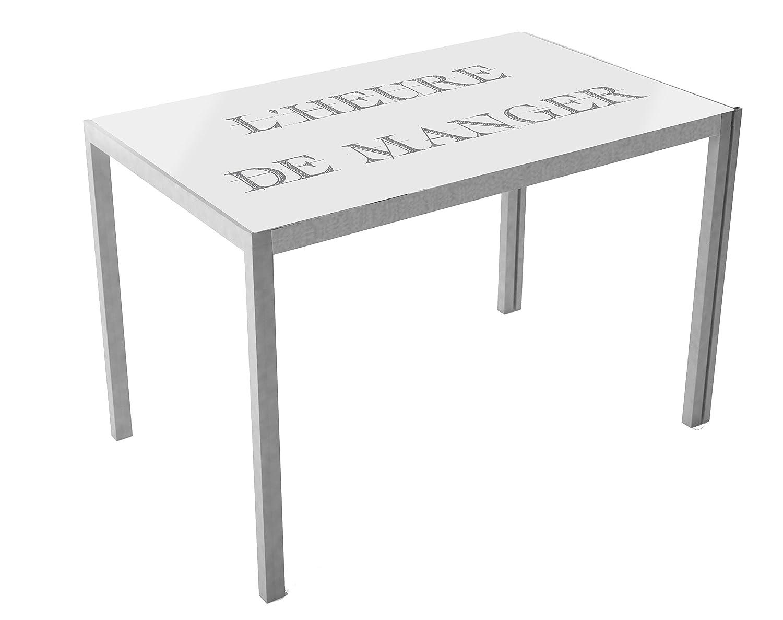 Suarez Mesa de cocina Cica, diseño Asfeld, 1 unidad, color plata ...