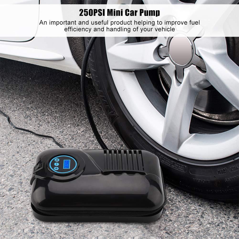 air automatique de compresseur dair /électrique de gonfleur /électrique de pneu de pompe daffichage gonflable de pompe dair de voiture pour des motos de voiture Pompe portative de voiture 12V mini