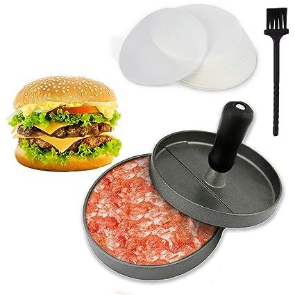 Joyoldelf prensador de hamburguesa ,molde para hacer hamburguesas caseras antiadherente