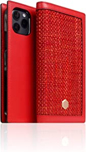 SLG Leather Wallet Case Compatible with iPhone 12 Pro Max, D5 Edition Calf Skin Leather Diary Flip Cover Card Slot Holder with Gift Box, Handmade and Designed for iPhone 12 Pro Max (Red)