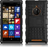 Cover Lumia 830, JAMMYLIZARD Custodia Heavy Duty ALLIGATOR in Silicone TPU e Polimero per Nokia Lumia 830, NERO