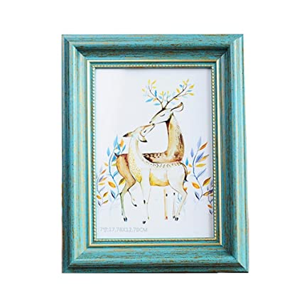 Frames And Services Snc.Muamax Vintage Teal 5 X 7 Photo Picture Frames For Table Top Wall Hanging Display Turquoise Decorations Birthday Wedding Gifts