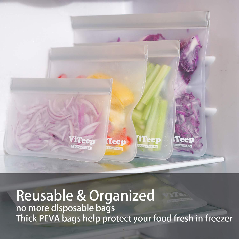 Amazon.com: ViTeep - Bolsas de almacenamiento reutilizables ...