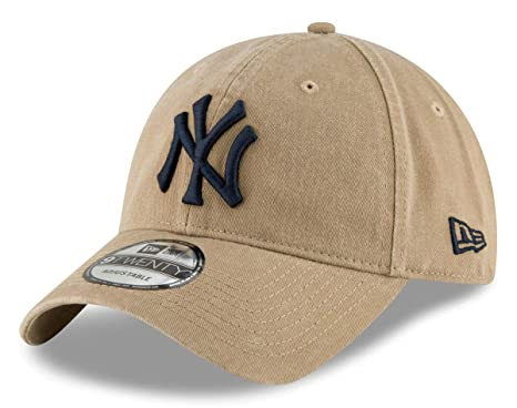 low priced f68df 9485a Image Unavailable. Image not available for. Color  New Era York Yankees MLB 9Twenty  Core Classic Twill Adjustable Khaki Hat