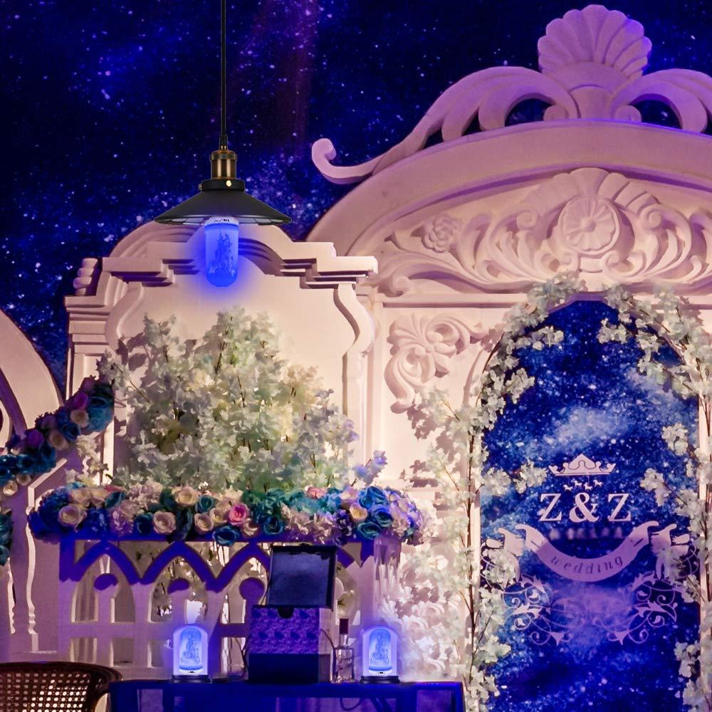 Blau Party Texsens Flammen Lampe Flammen Gl/ühlampen Dekorative Leuchte Flackernde Gl/ühbirne Flamme Gl/ühbirne Hochzeit Festival 2835 LED E27 mit 4 Modi Feuer Effect Birne f/ür Weihnachten