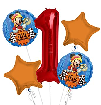 Amazon.com: Mickey Mouse Feliz Cumpleanos Balloon Bouquet ...