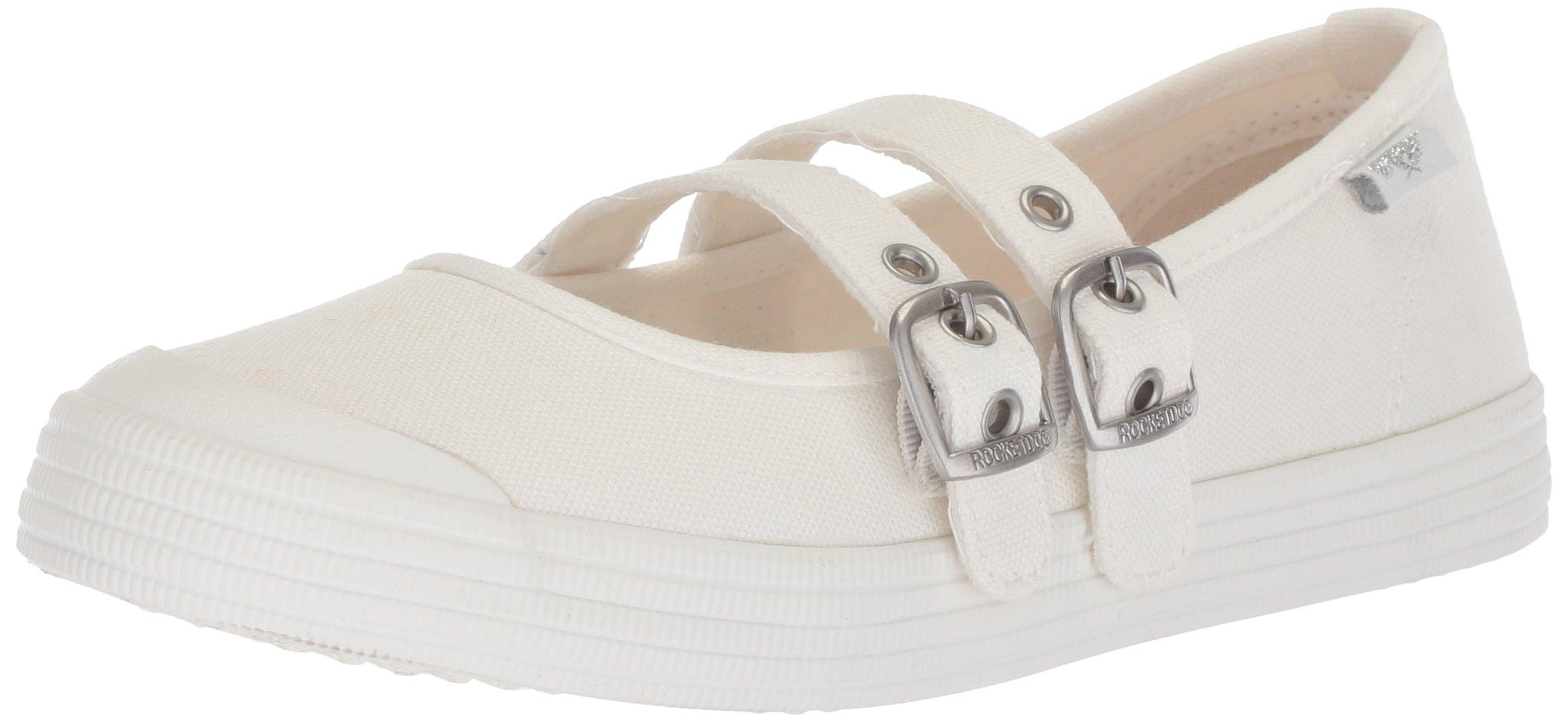 Rocket Dog Women's Coolit 8A Canvas Cotton Sneaker, White, 8 Medium US
